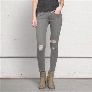 Rag & Bone gray skinny distressed jeans 28